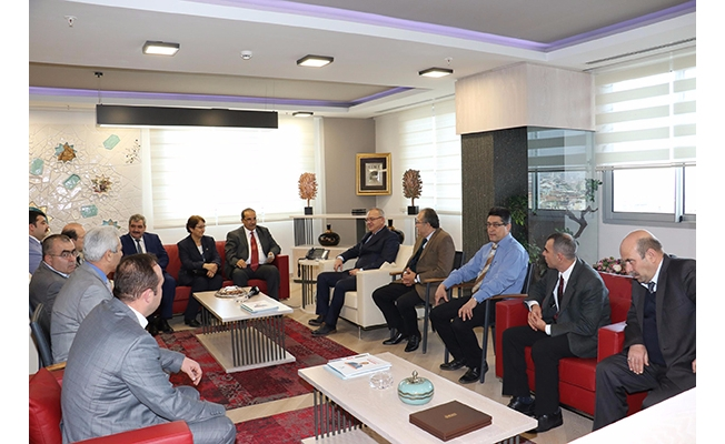 Sendika başkanlarından Ergün'e tebrik