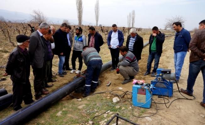 Buldan Barajında kapalı sistem çalışmalarına başlandı