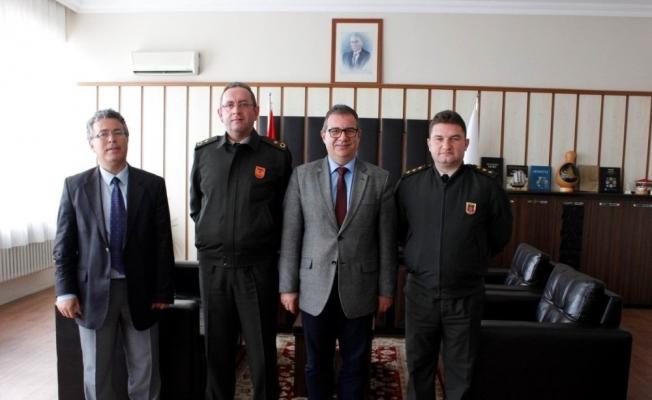Komutanlardan Salihli MYO'ya ziyaret