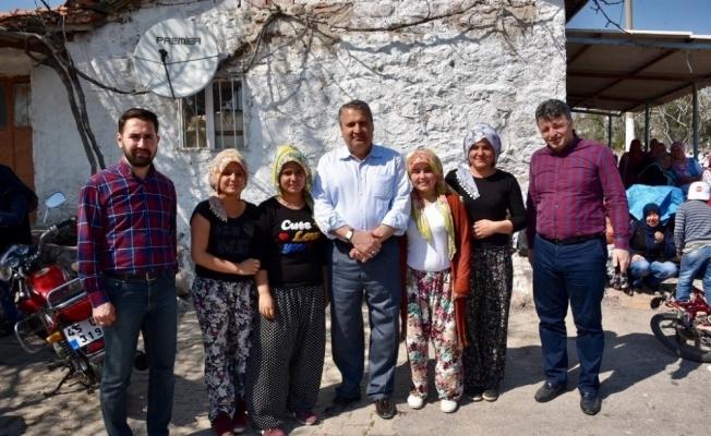 Başkan Çerçi bir günde on köy gezdi