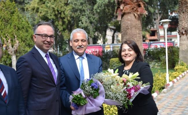 Vali Güvençer'den Kaymakam Özcan'a ziyaret