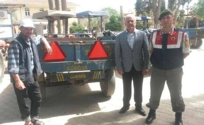Alaşehir Ziraat Odasından çiftçilere 100 adet reflektör