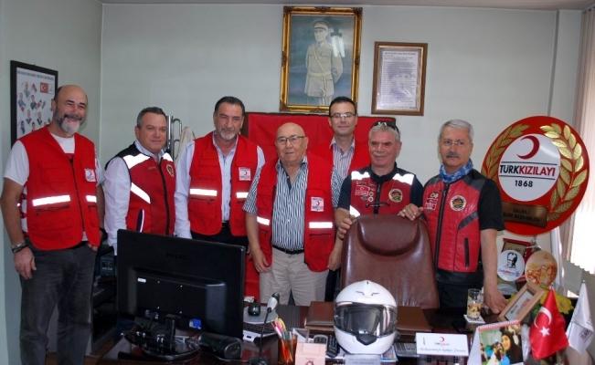 Salihlili motosikletçiler ile Kızılay arasında işbirliği
