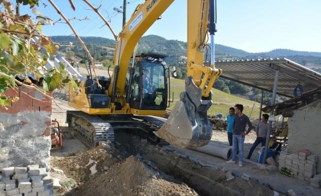 Selendi'ye 35 kilometrelik kanalizasyon hattı