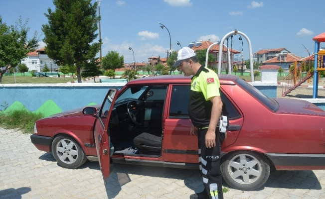 Alaşehir'de çalınan otomobil Kula'da bulundu