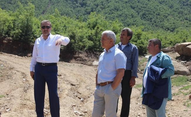 Başkan Karaçoban'dan aşırı yağışların vurduğu mahalleye ziyaret