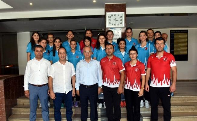 Başkan Kayda, milli judocuları ağırladı