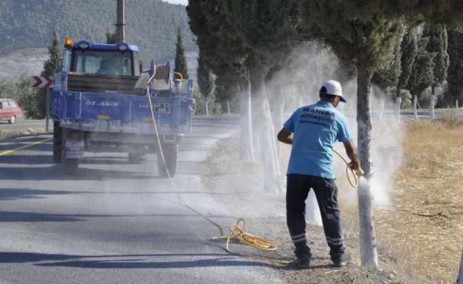 Akhisar'da mezarlıkların bakımı tamamlandı
