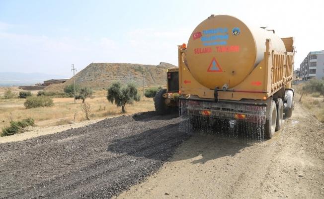Ergenekon Mahallesi'nde asfalt çalışması