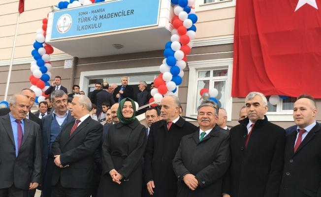 Bakanlar maden şehitleri için Soma'da okul açtı