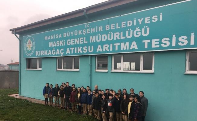 Kırkağaçlı öğrenciler atıksu arıtma tesisini gezdi
