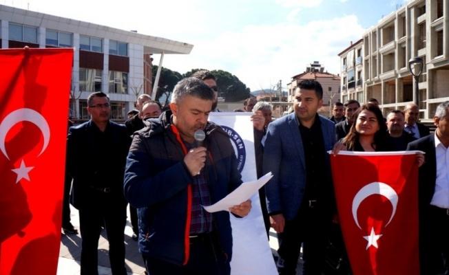 Sarıgöl Eğitim-Bir-Sen'den Mehmetçik'e destek açıklaması