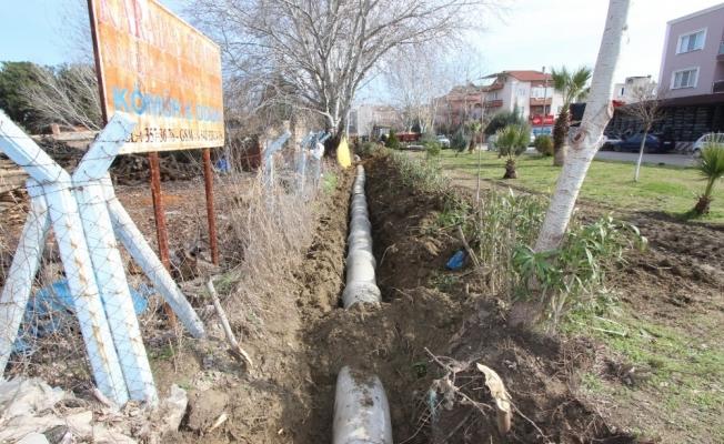 Saruhanlı'da yedek 10 su kanalı kapalı sisteme çevriliyor