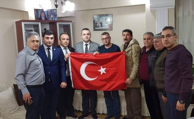 Şehit ailelerinden Afrin gazilerine ziyaret