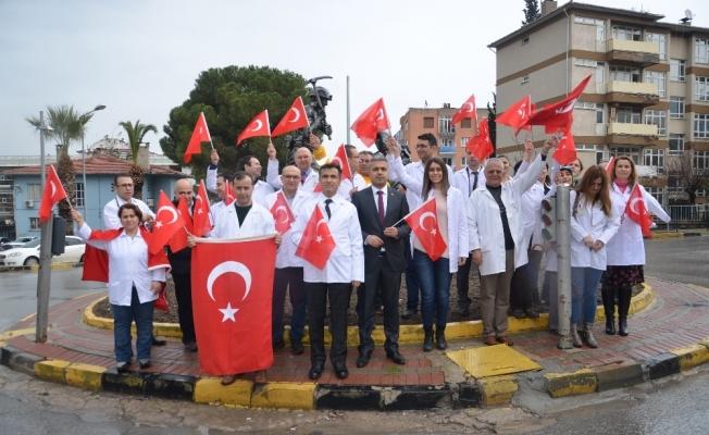 Soma'dan Afrin'e İstiklal Marşı ile destek