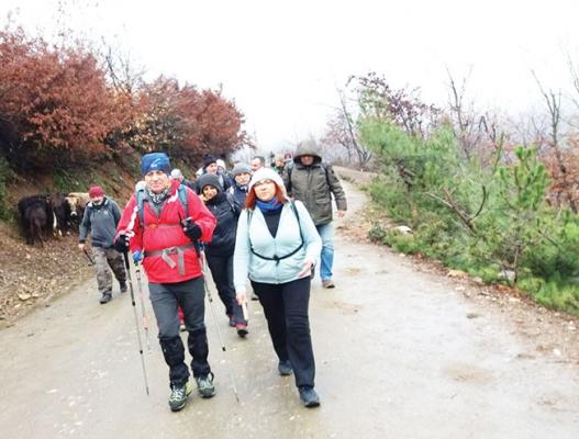 Spilos Dağcıları Ovacık Yaylası'na yürüdü