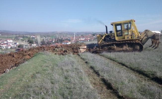 Alaşehir'de yeni mezarlık alanı için çalışma başladı