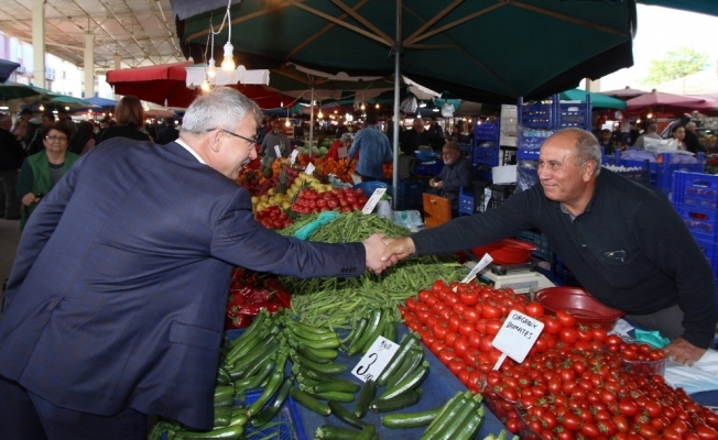 Başkan Yaralı'dan pazarcı esnafına müjde