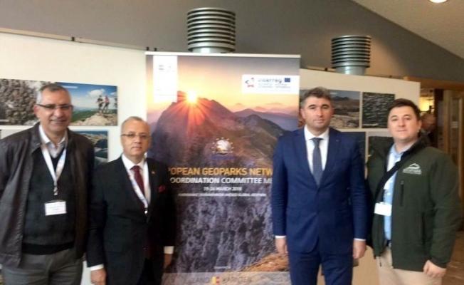 İki başkan Avusturya'da düzenlenen Jeopark koordinasyon toplantısına katıldı
