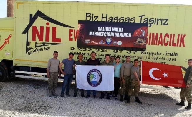 Salihli'den gönderilen yardımlar Mehmetçiğe ulaştı