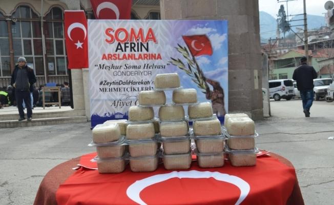 Soma'dan Afrin'e 2,5 ton helva gönderildi
