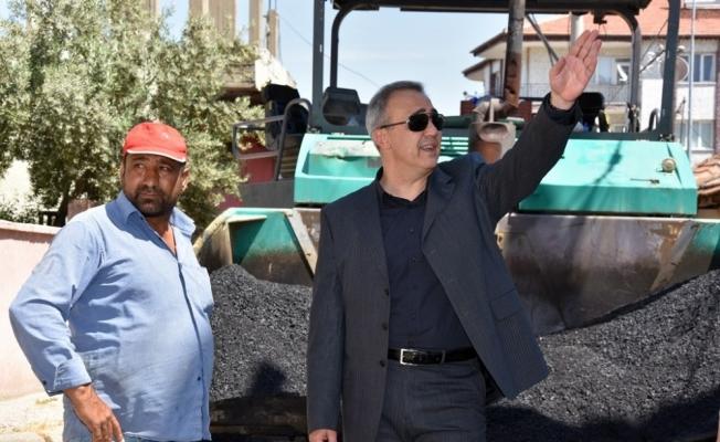 Başkan Karaçoban mahalle çalışmalarını yerinde inceledi