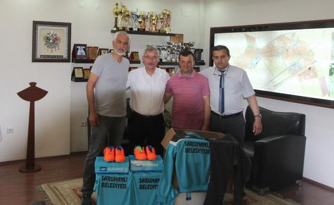 Başkan Yaralı'dan Yedi Eylül Spor Kulübüne malzeme desteği
