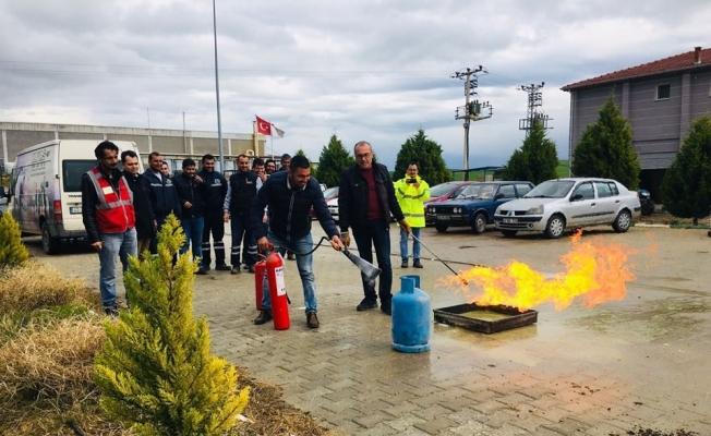 Salihli OSB'de yangın tatbikatı yapıldı