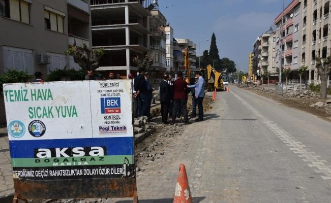 Salihli'de doğalgaz çalışmaları hızlandı