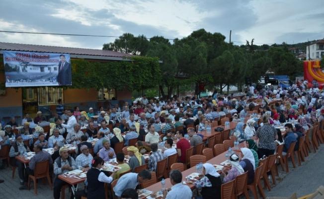 Başkan Çerçi vatandaşlarla birlikte iftar yaptı