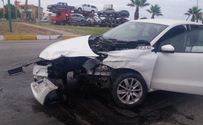 Saruhanlı'da trafik kazası: 2 yaralı