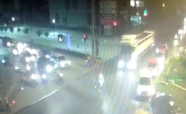 Motosikletli 2 gencin öldüğü kaza mobese kamerasında