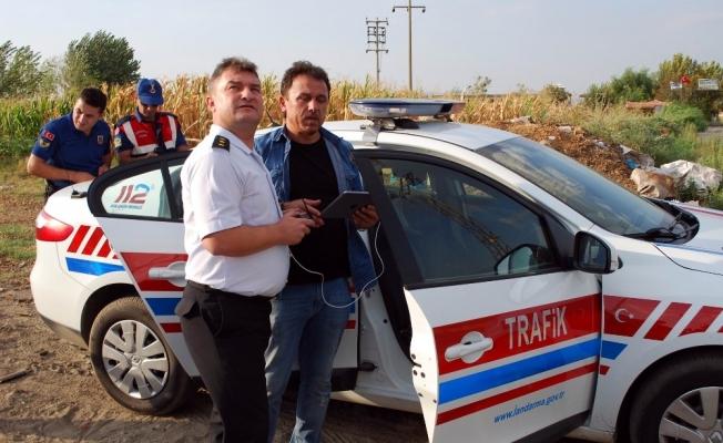 Trafik ihlallerini Drone yakaladı, Jandarma ceza yazdı