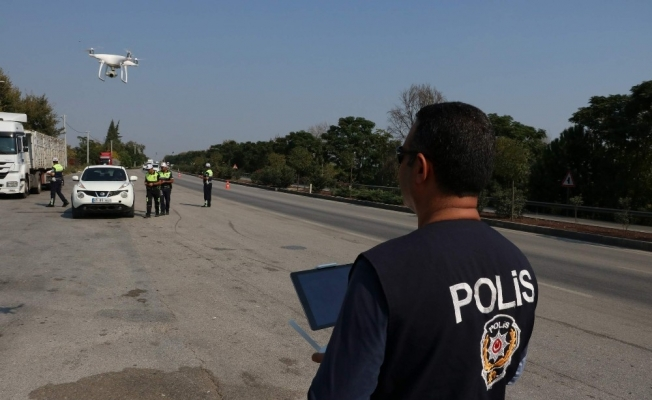 Manisa'da drone destekli trafik uygulaması