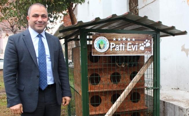 """Alaşehir Belediyesinden kedilere """"Pati Evi"""""""