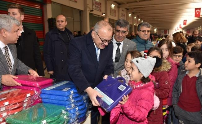 Başkan Ergün ve öğrenciler Yerli Malı Haftası'nda buluştu