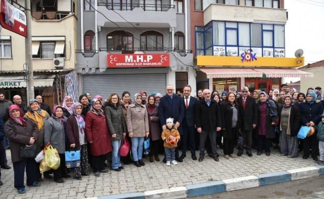 Başkan Ergün'e, Köprübaşı'nda büyük ilgi