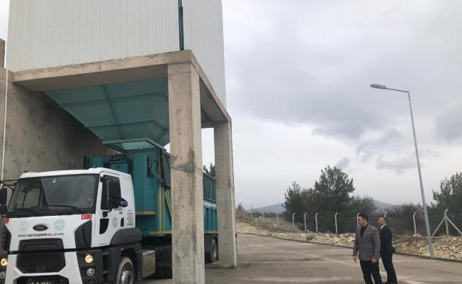 Demirci'nin katı atık bertaraf istasyonu da tamamlandı