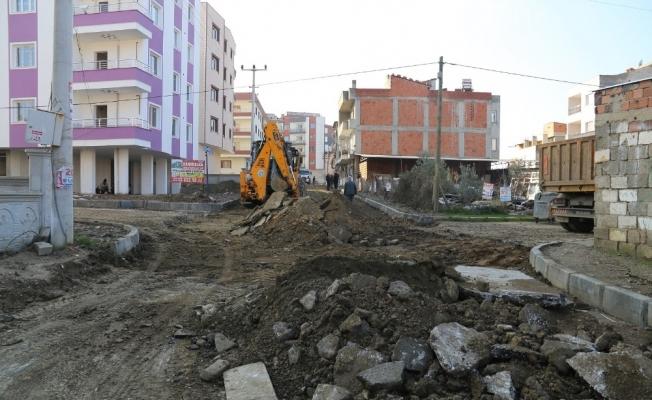 Turgutlu'da 7 sokakta yenileme çalışması