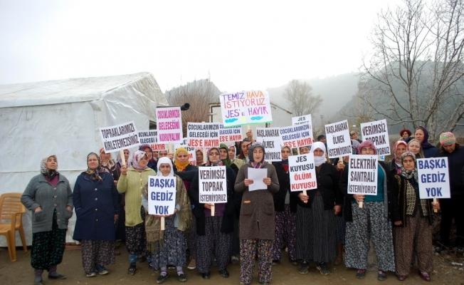 Köylülerden JES'e karşı çadırlı eylem