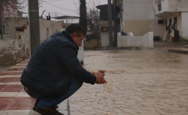 Manisa'da sulama kanalları taştı, evler su altında kaldı
