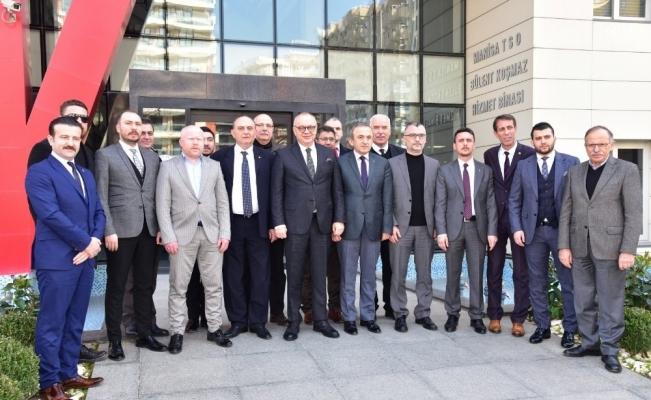 Başkan Ergün'den ilk ziyaret MTSO'ya
