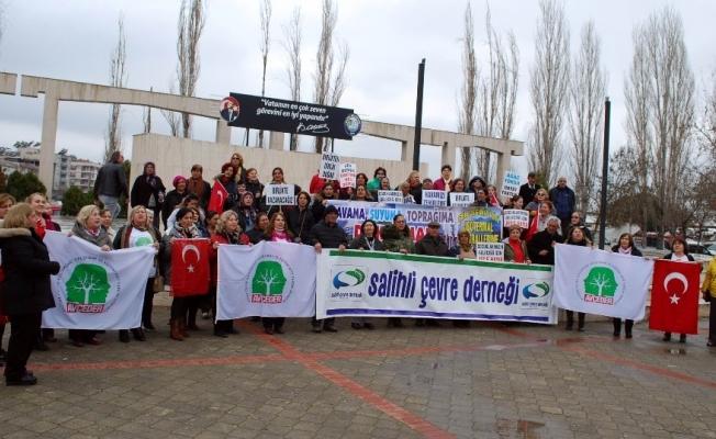 Manisa'da çevrecilerden JES'lere marşlı protesto