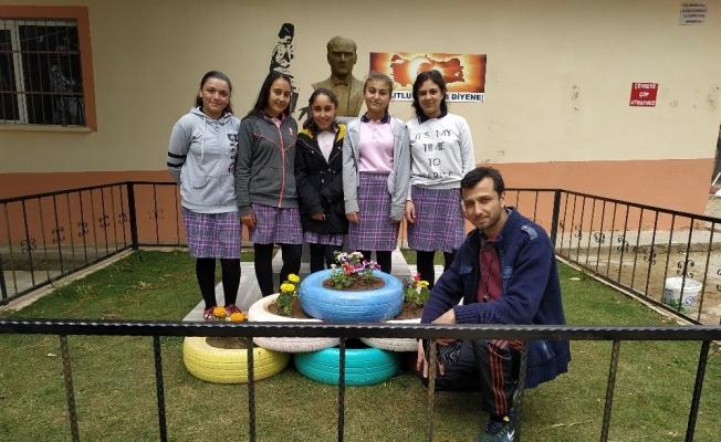 'Sıfır Atık' projesiyle okullarını güzelleştirdiler