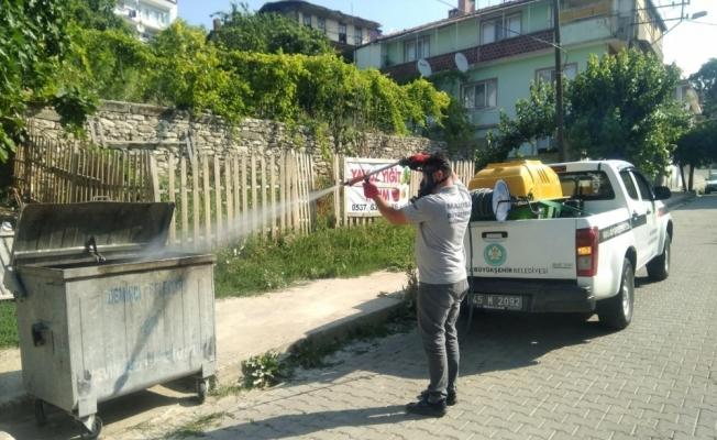 Demirci'de haşereyle mücadele