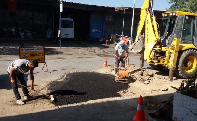 Yunusemre küçük sanayi sitesi yollarını düzenliyor^