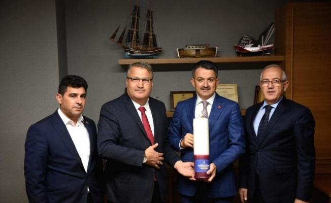 Başkan Çerçi başkentte Yuntdağı güreşlerine davet etti