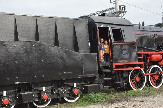 Buharlı lokomotif Soma'nın oldu
