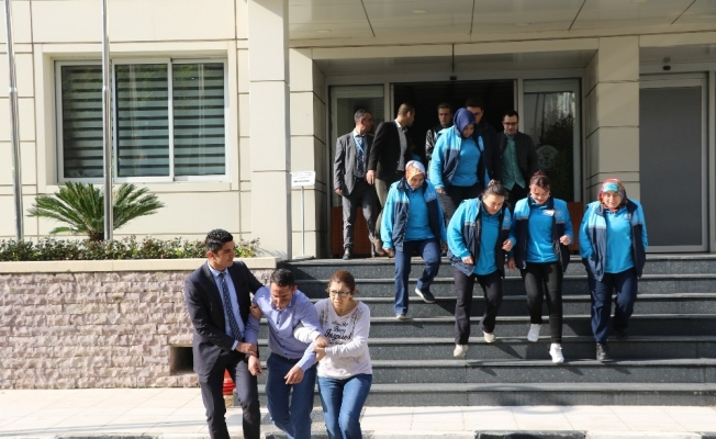 Manisa Büyükşehir Belediyesinin tatbikatı gerçeği aratmadı