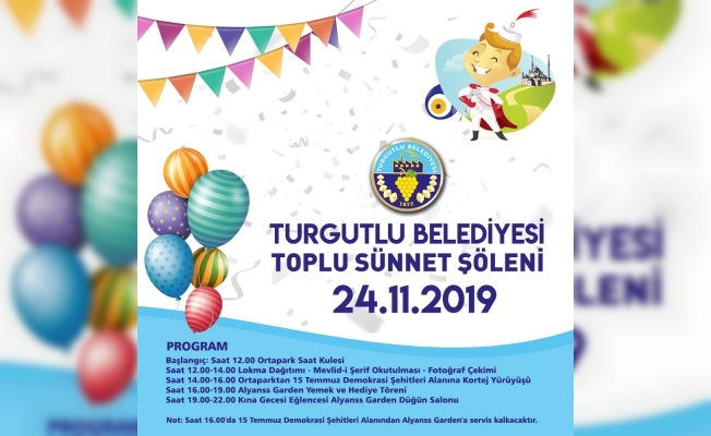 Turgutlu Belediyesinden 100 çocuğa toplu sünnet